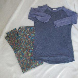 LulaRoe Tall & Curvy pants and top size M
